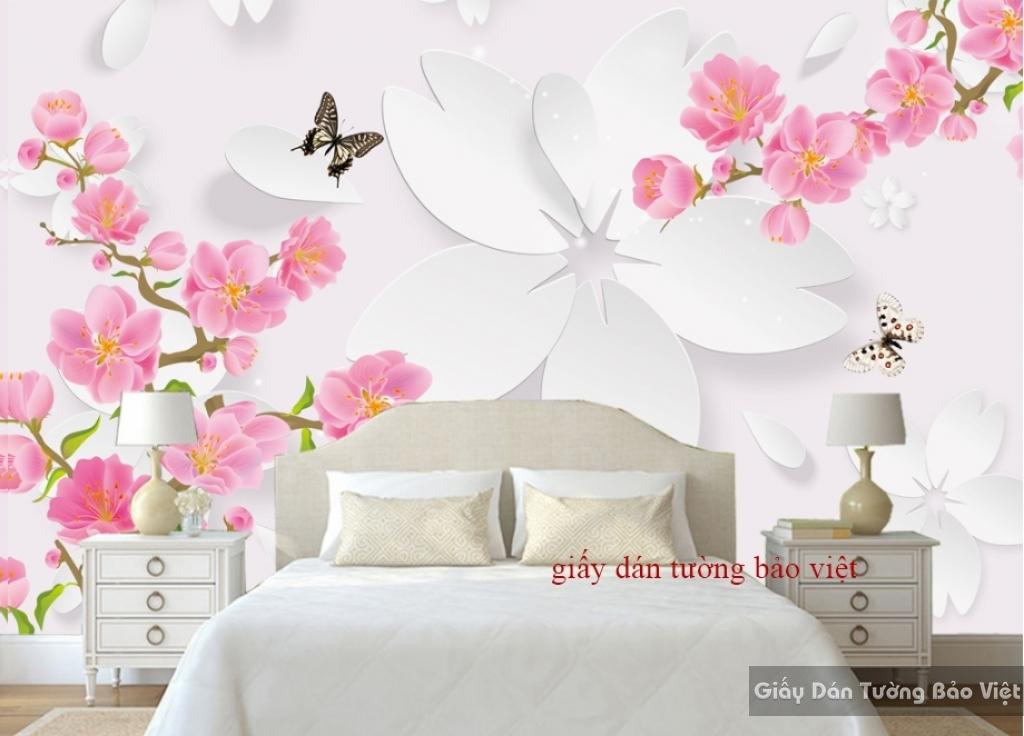 Giấy dán tường phòng ngủ 3D K16480048