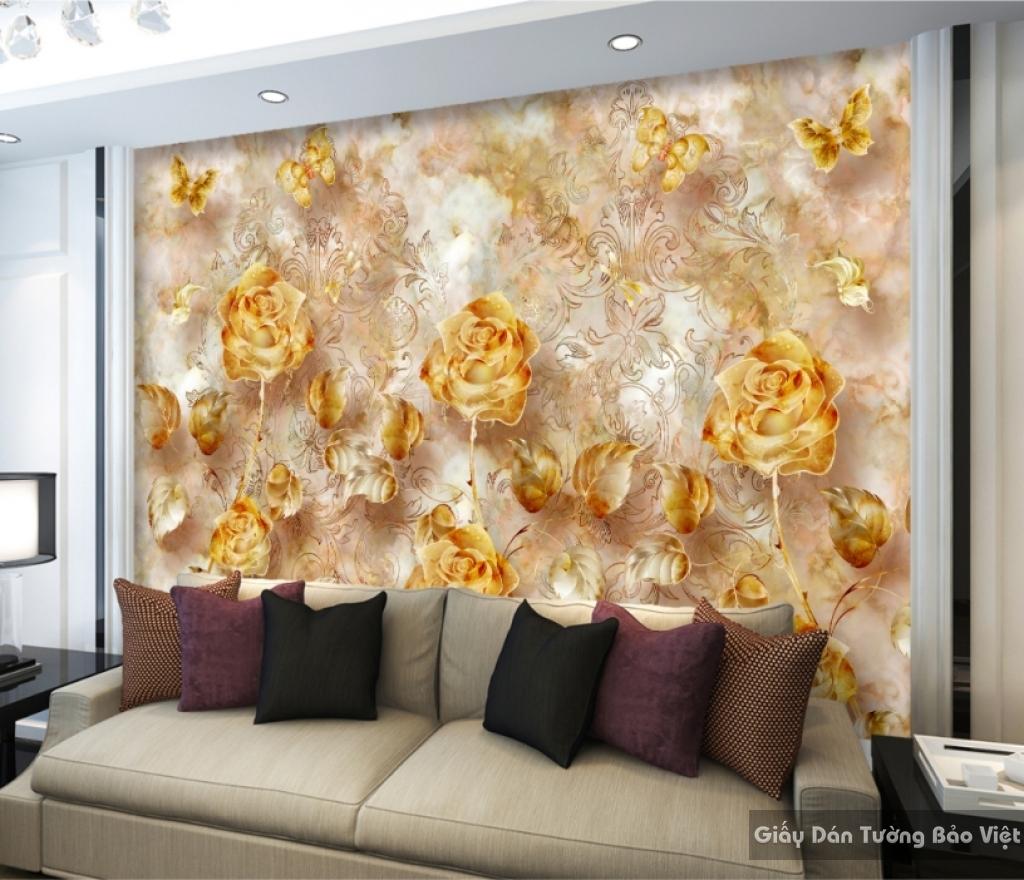 Giấy dán tường phòng ngủ 3d 15673619