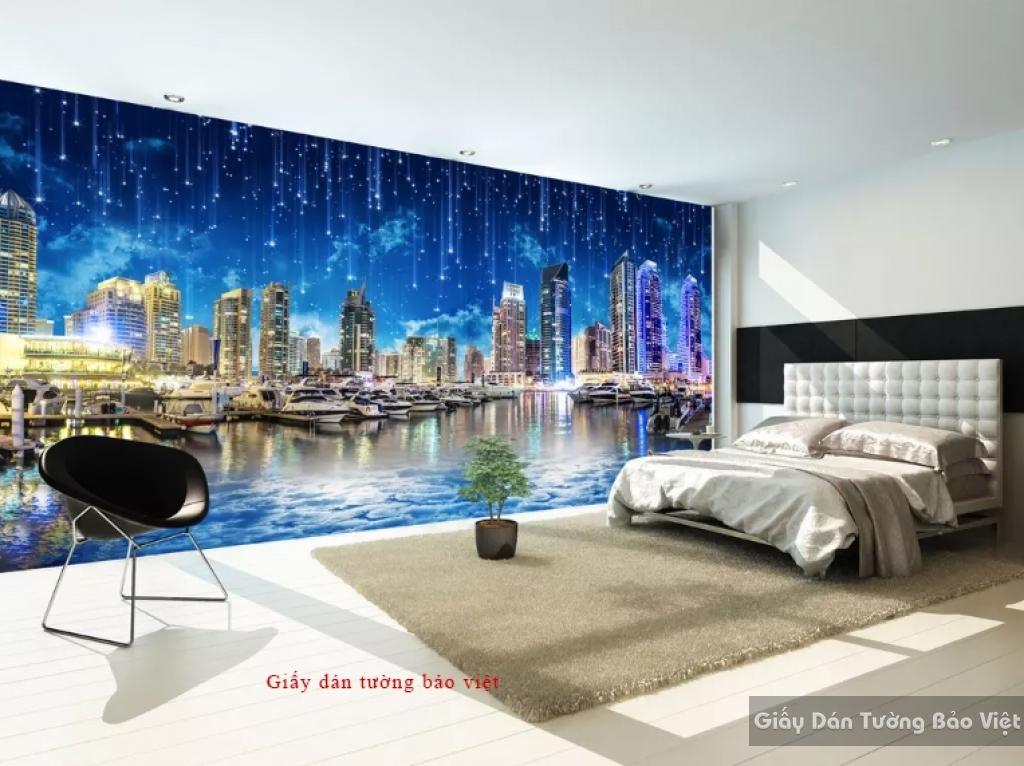 Giấy dán tường phòng ngủ Fm217