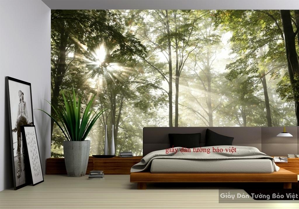 Giấy dán tường phòng ngủ phong cảnh Tr121