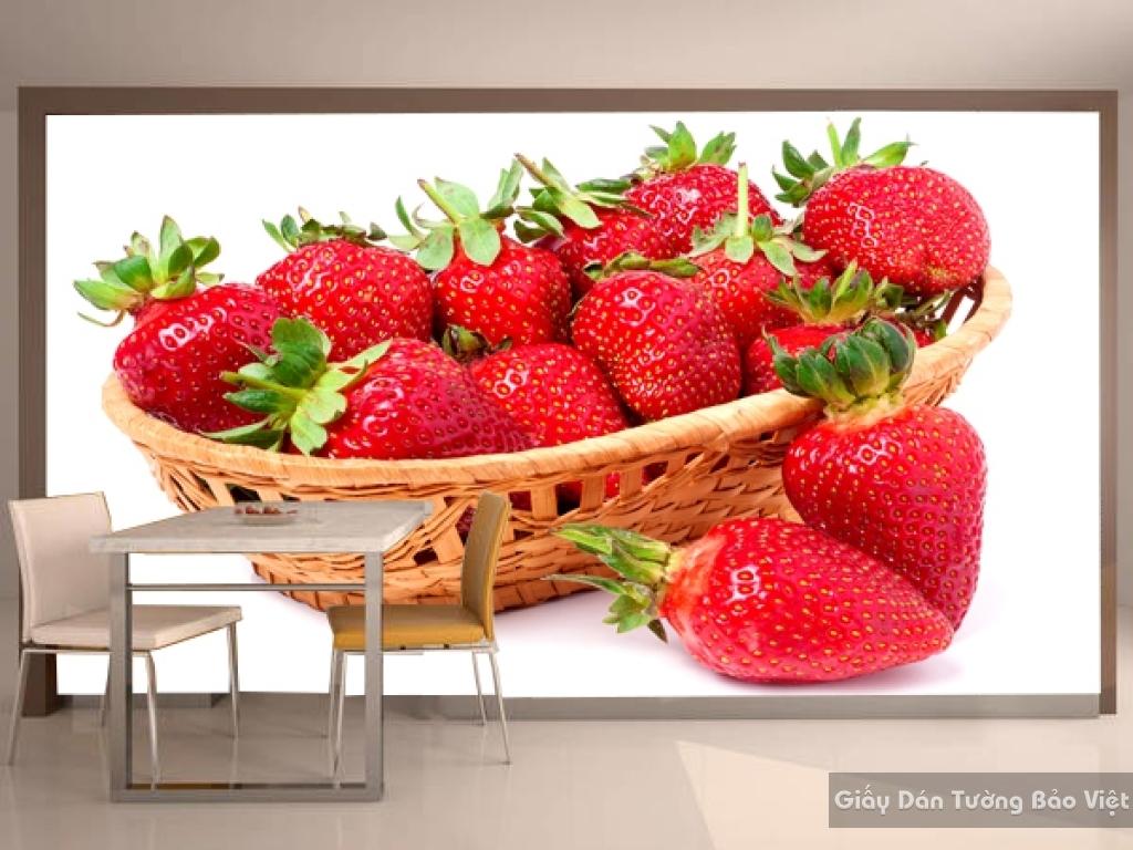 Giấy dán tường trái cây 3D H062