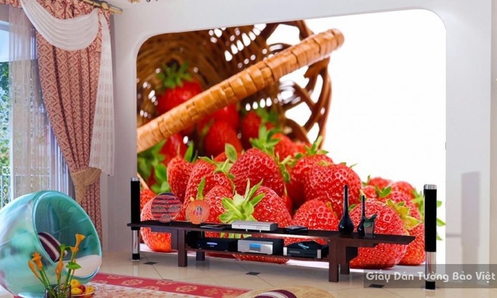 Giấy dán tường trái cây H063