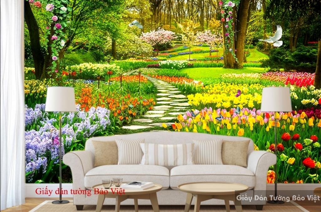 Giấy dán tường vườn hoa Fi042