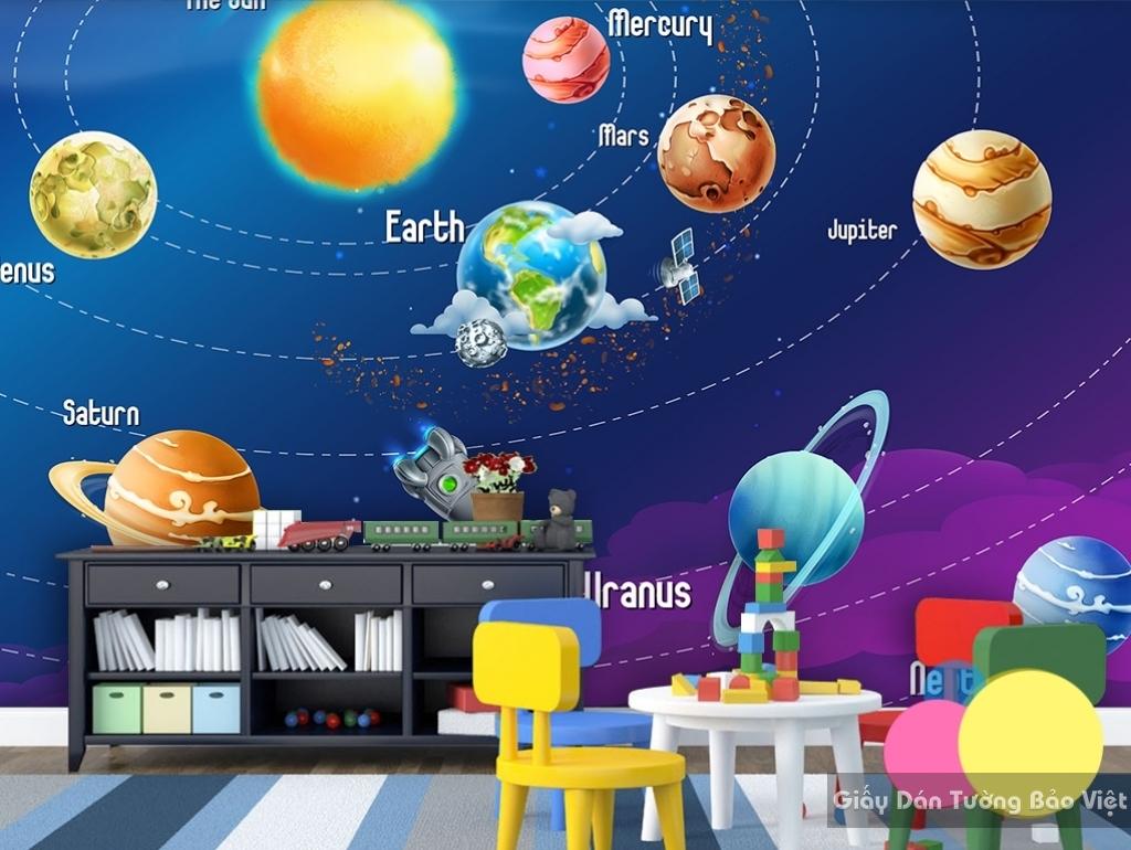 Giấy giấy dán tường phòng trẻ em 3D kid003