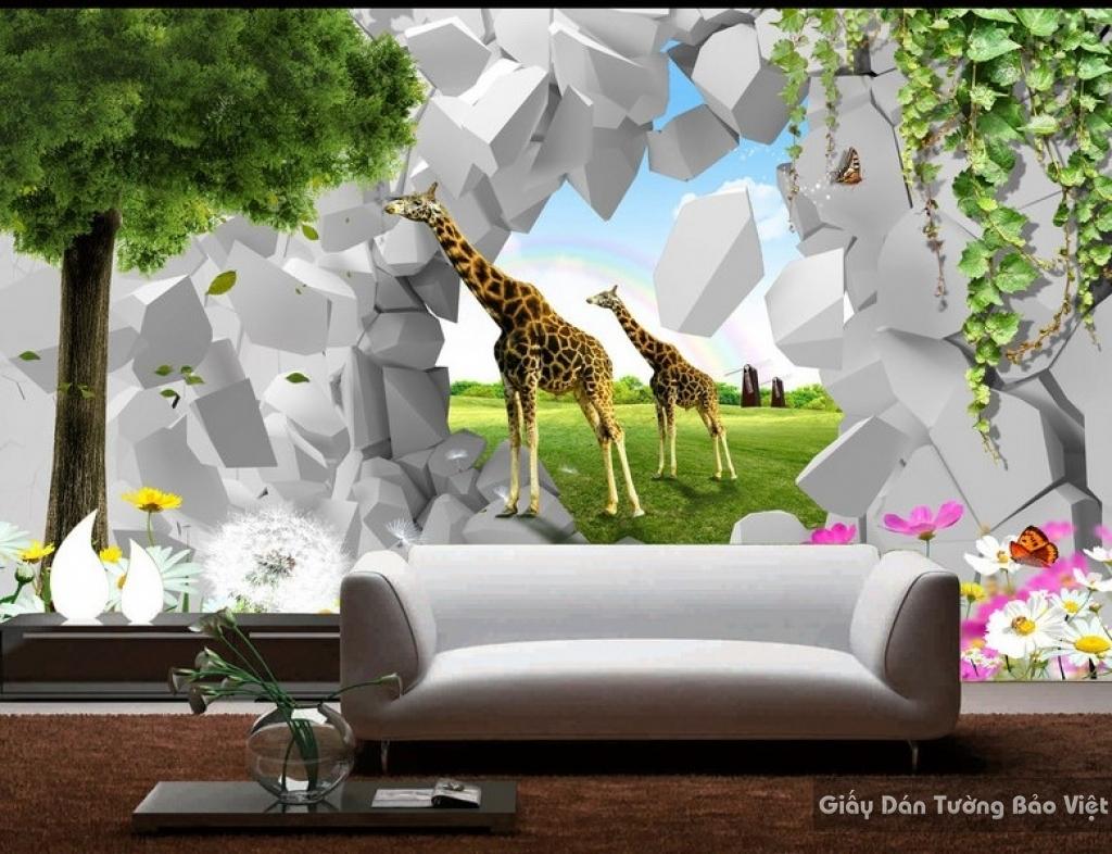 Giấy giấy dán tường phòng trẻ em 3D kid004