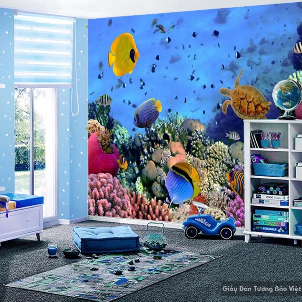 Giấy giấy dán tường phòng trẻ em 3D kid006