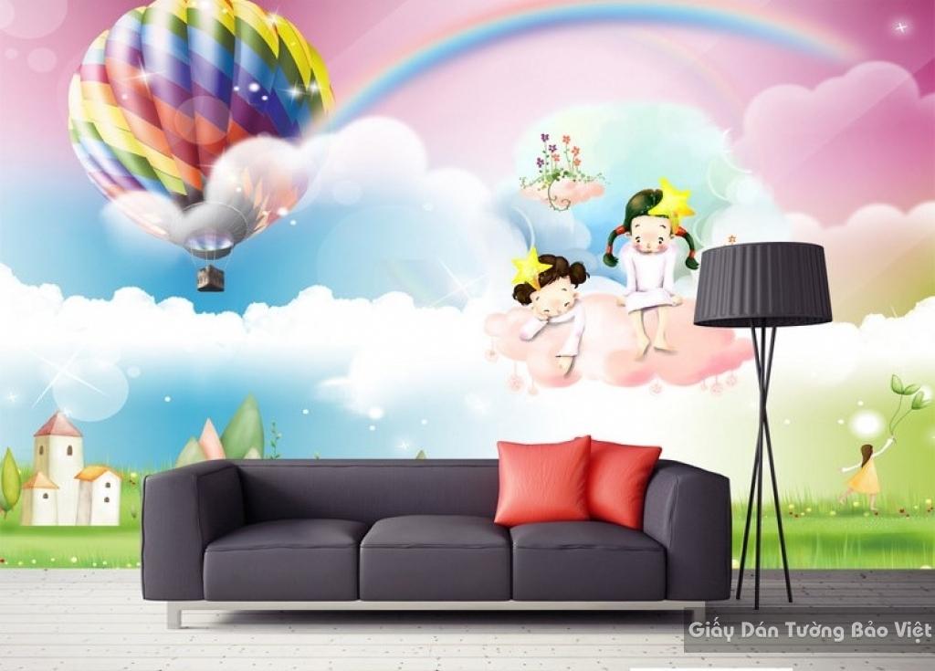 Giấy giấy dán tường phòng trẻ em 3D kid008