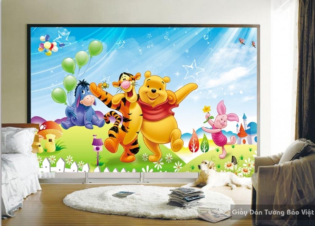 Giấy giấy dán tường phòng trẻ em 3D kid009