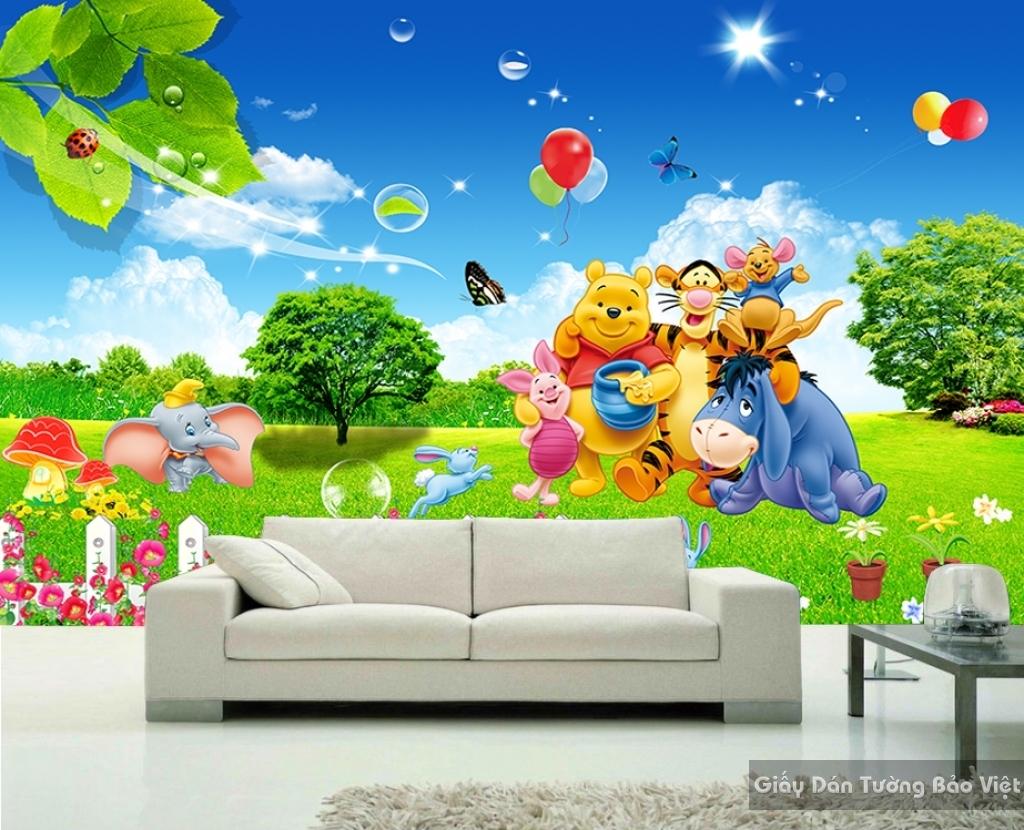Giấy giấy dán tường phòng trẻ em 3D kid010