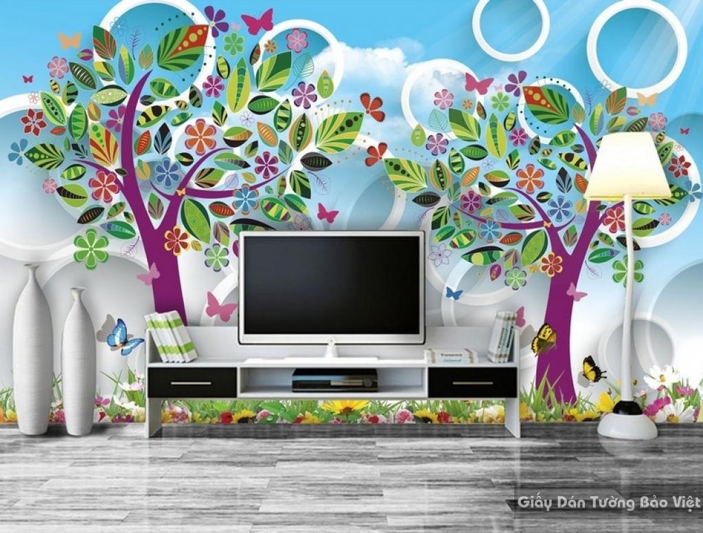 Giấy giấy dán tường phòng trẻ em 3D kid012