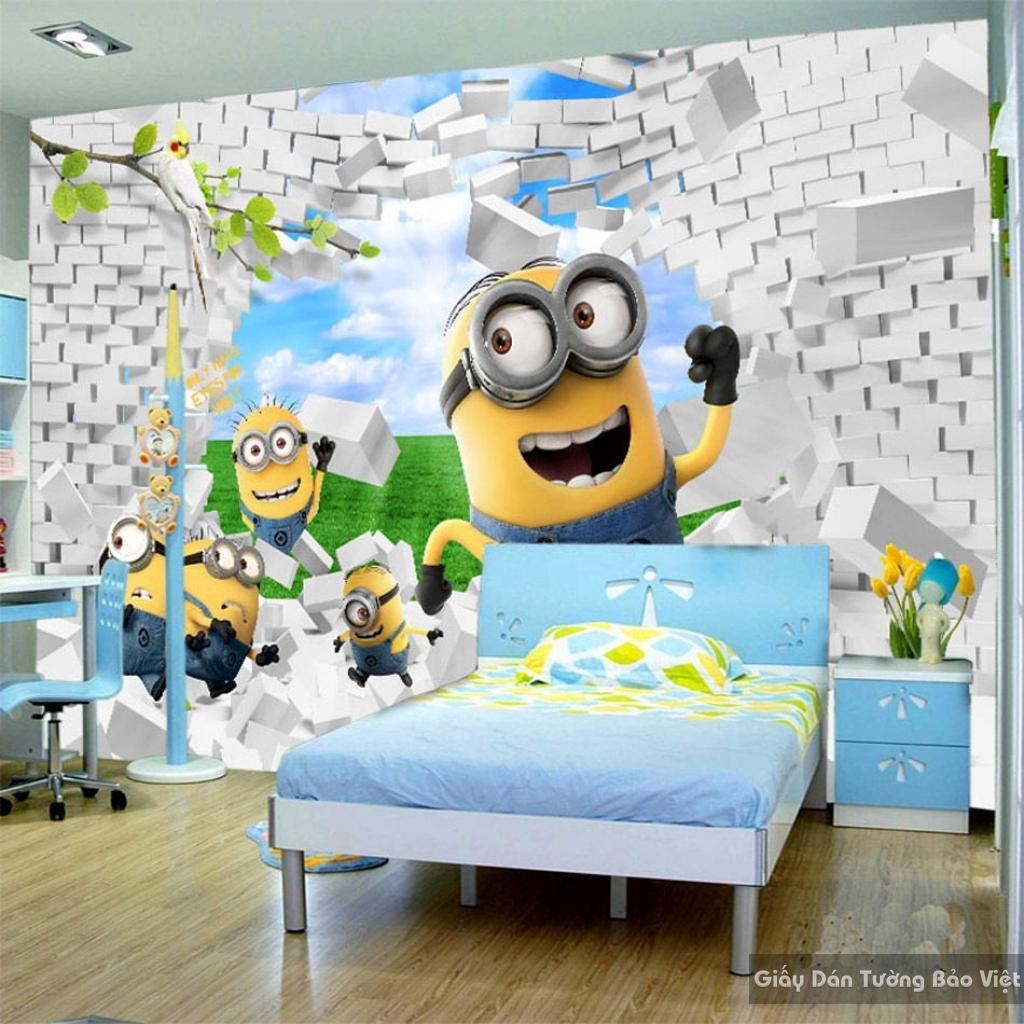 Giấy giấy dán tường phòng trẻ em 3D kid013