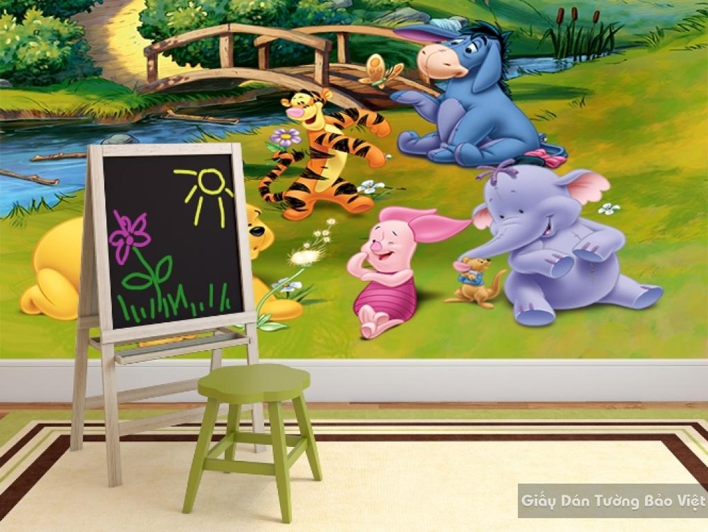 Giấy giấy dán tường phòng trẻ em 3D kid014