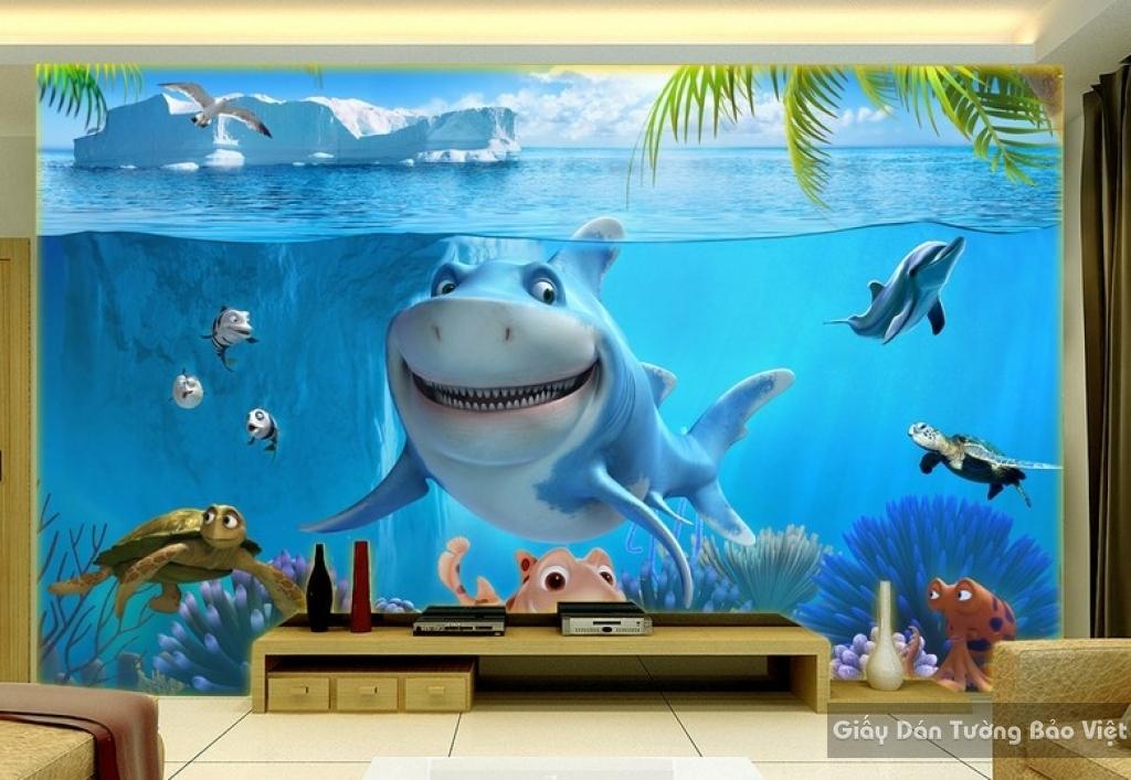 Giấy giấy dán tường phòng trẻ em 3D kid015