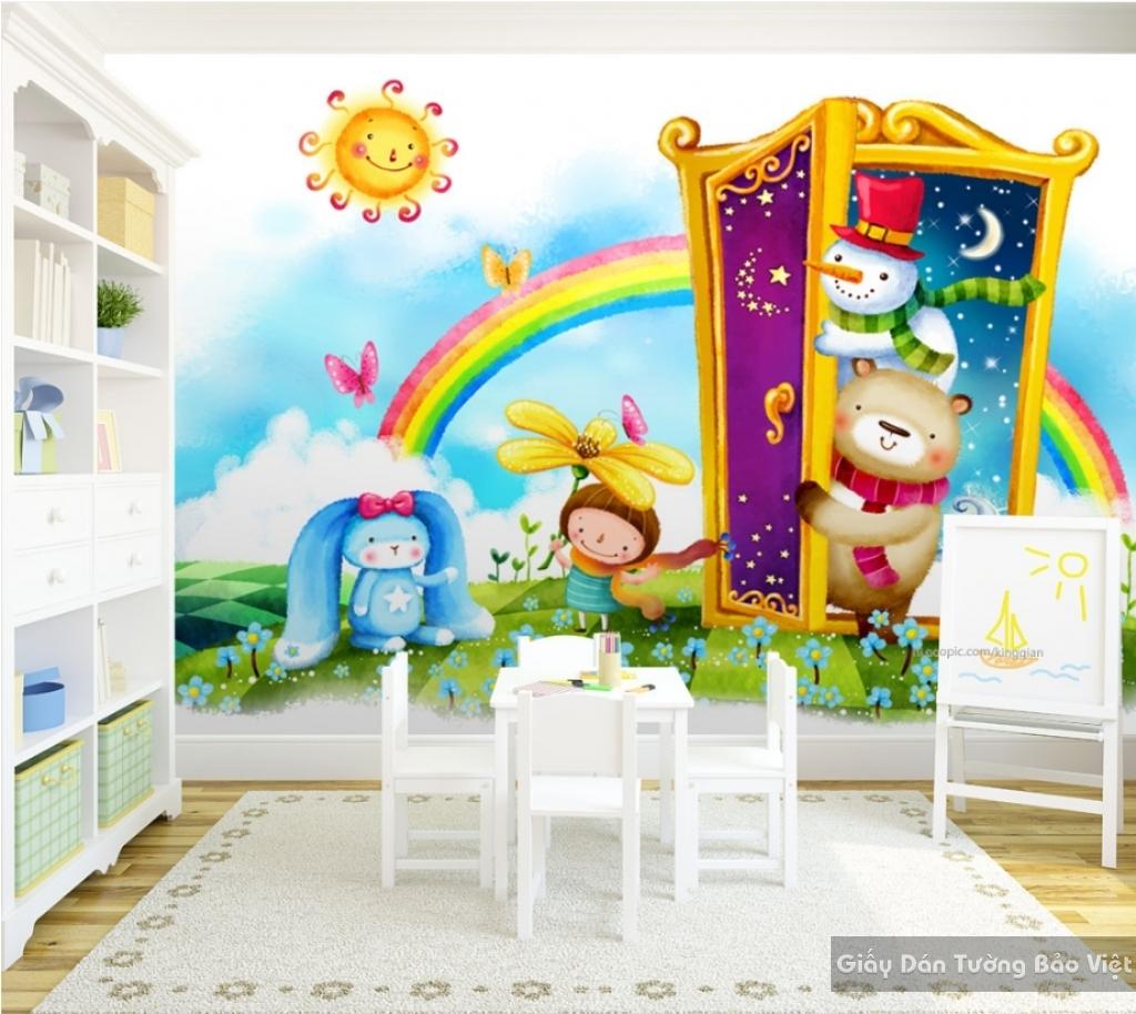 Giấy giấy dán tường phòng trẻ em 3D kid023