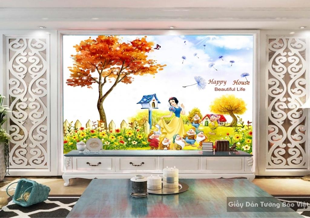 Giấy giấy dán tường phòng trẻ em 3D kid026
