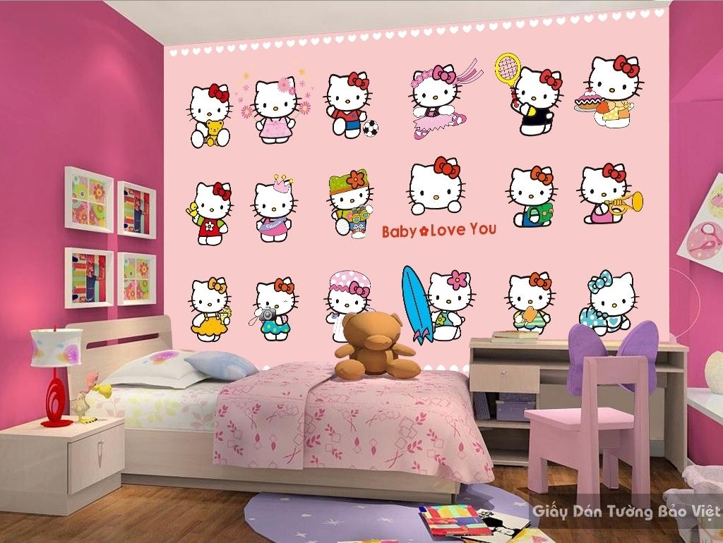 Giấy giấy dán tường phòng trẻ em 3D kid034