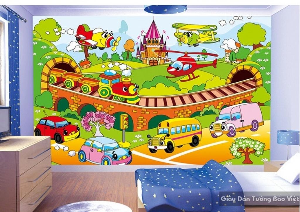 Giấy giấy dán tường phòng trẻ em 3D kid035
