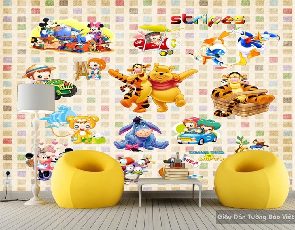 Giấy giấy dán tường phòng trẻ em 3D kid036