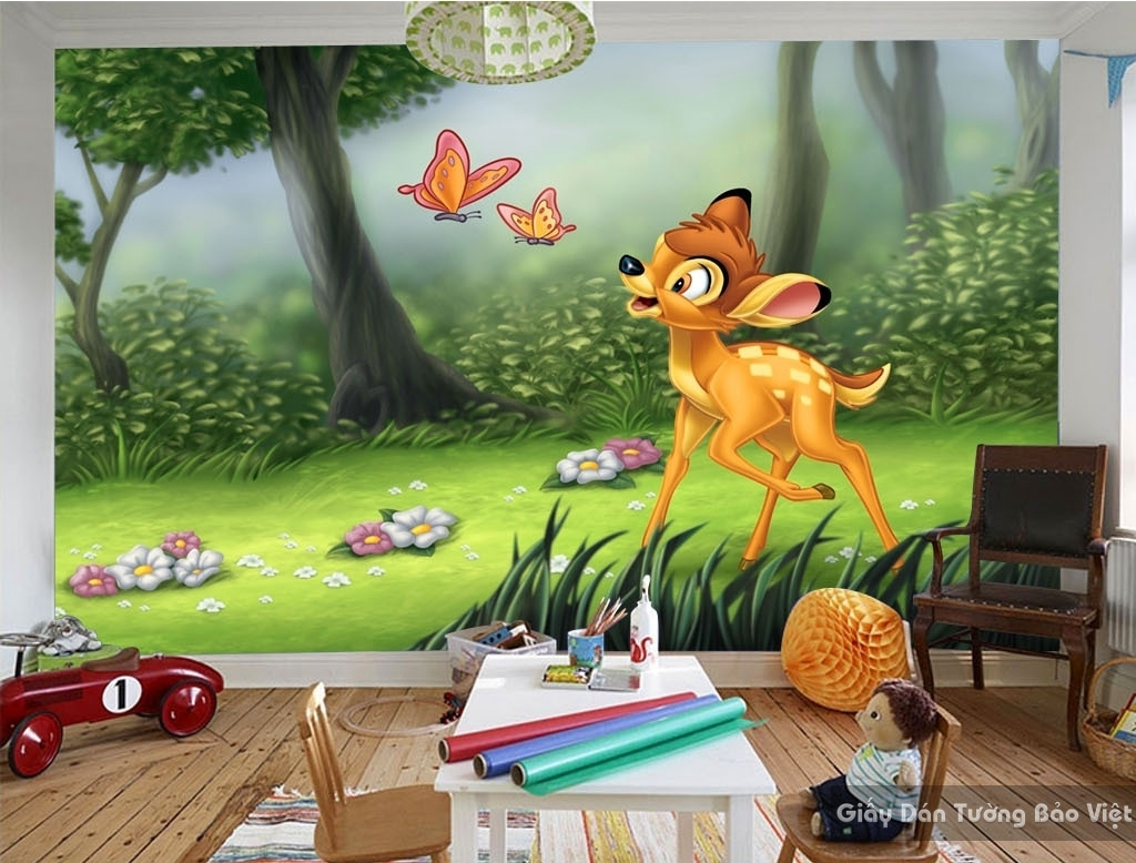 Giấy giấy dán tường phòng trẻ em 3D kid037