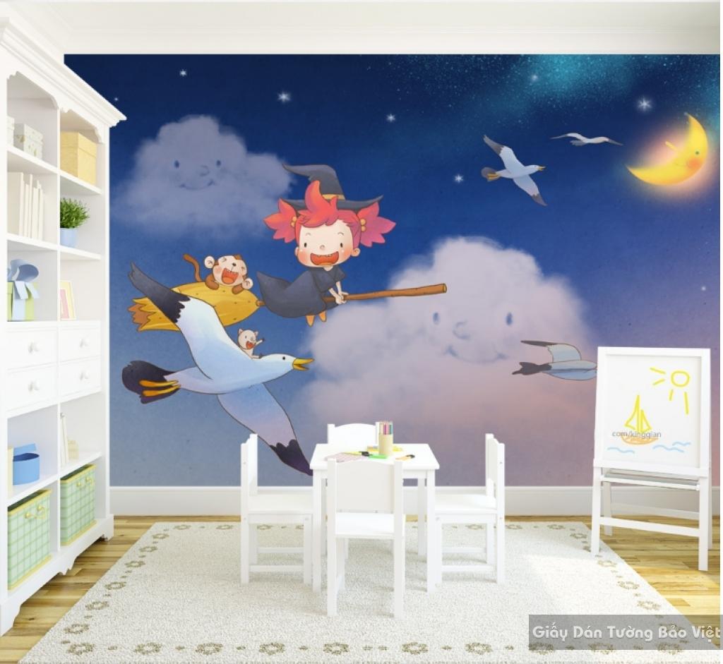 Giấy giấy dán tường phòng trẻ em 3D kid040