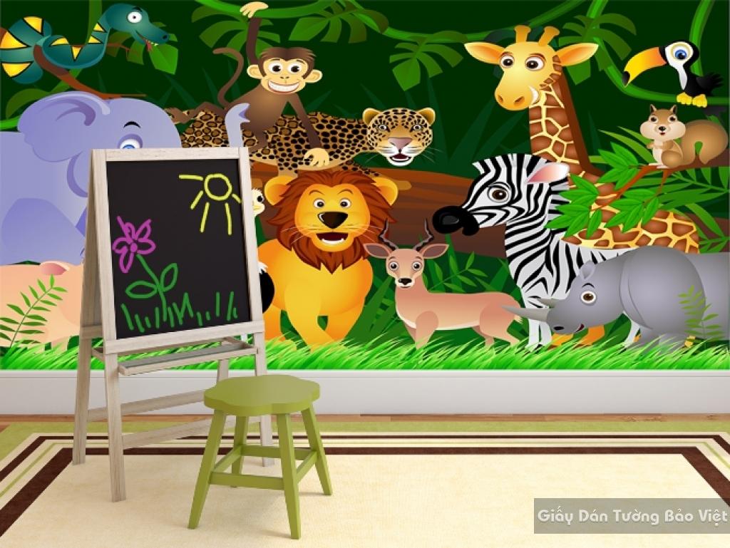 Giấy giấy dán tường phòng trẻ em 3D kid051