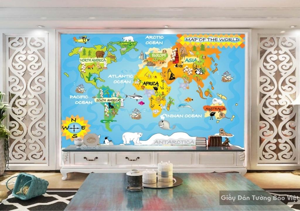 Giấy giấy dán tường phòng trẻ em 3D kid052