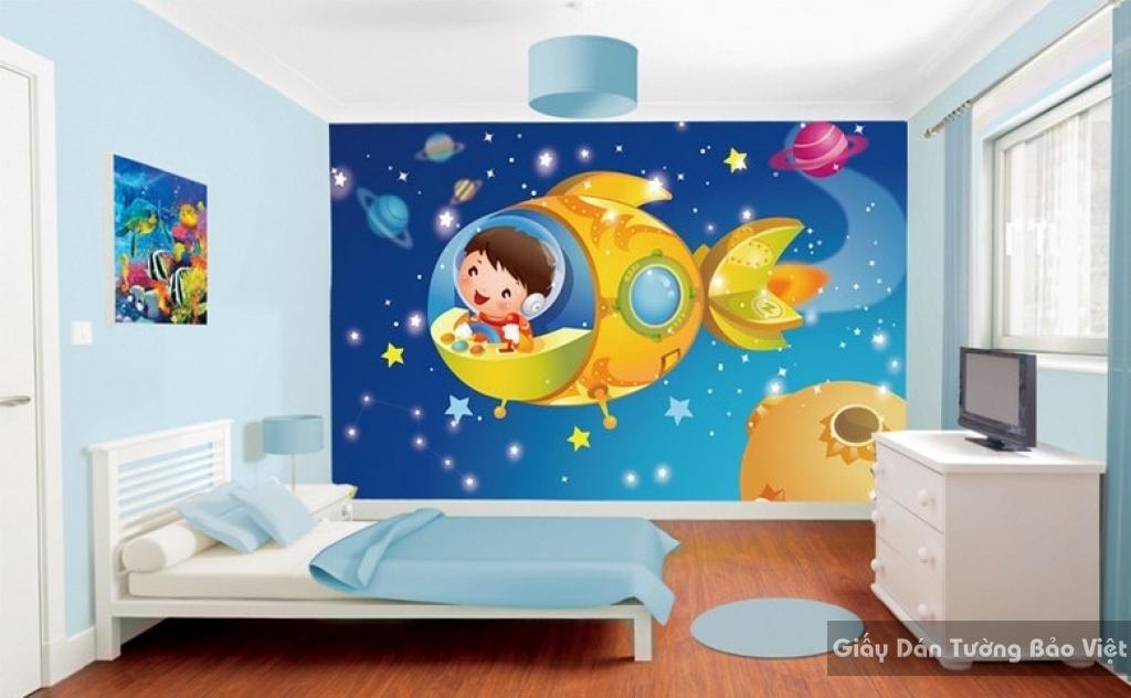 Giấy giấy dán tường phòng trẻ em 3D kid001