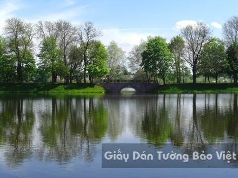Tranh Giấy Dán Tường 3D Phong Cảnh Thiên Nhiên Sông Núi LK 1501-25
