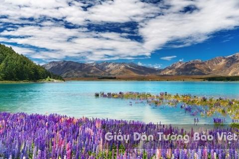 Tranh Giấy Dán Tường 3D Phong Cảnh Thiên Nhiên Sông Núi LK 1501-26