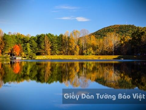Tranh Giấy Dán Tường 3D Phong Cảnh Thiên Nhiên Sông Núi LK 1501-30