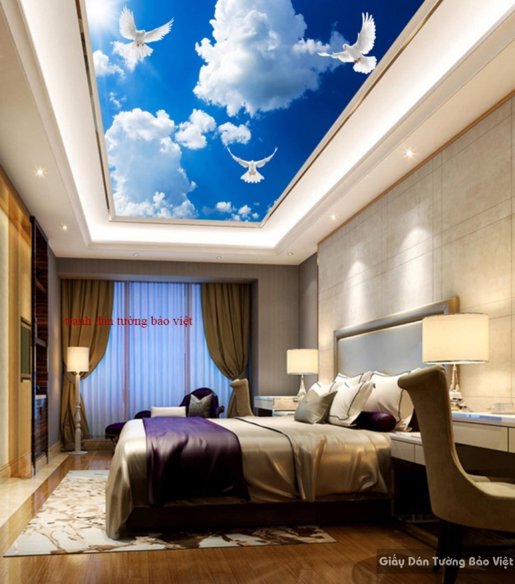 Tranh dán trần nhà C055