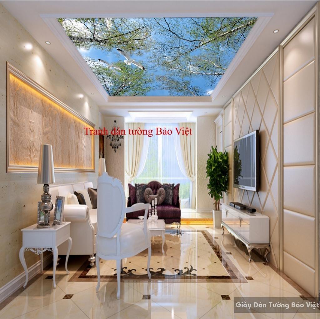 Tranh dán trần nhà đẹp C077