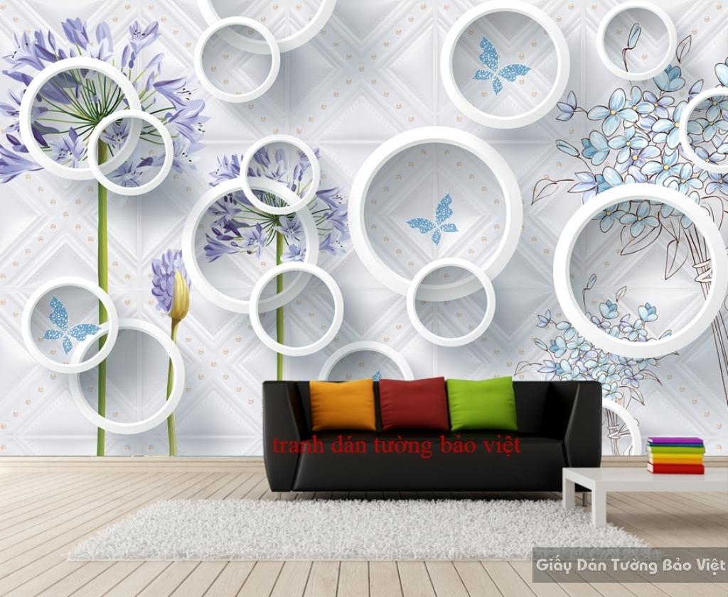 Tranh dán tường 3D-037