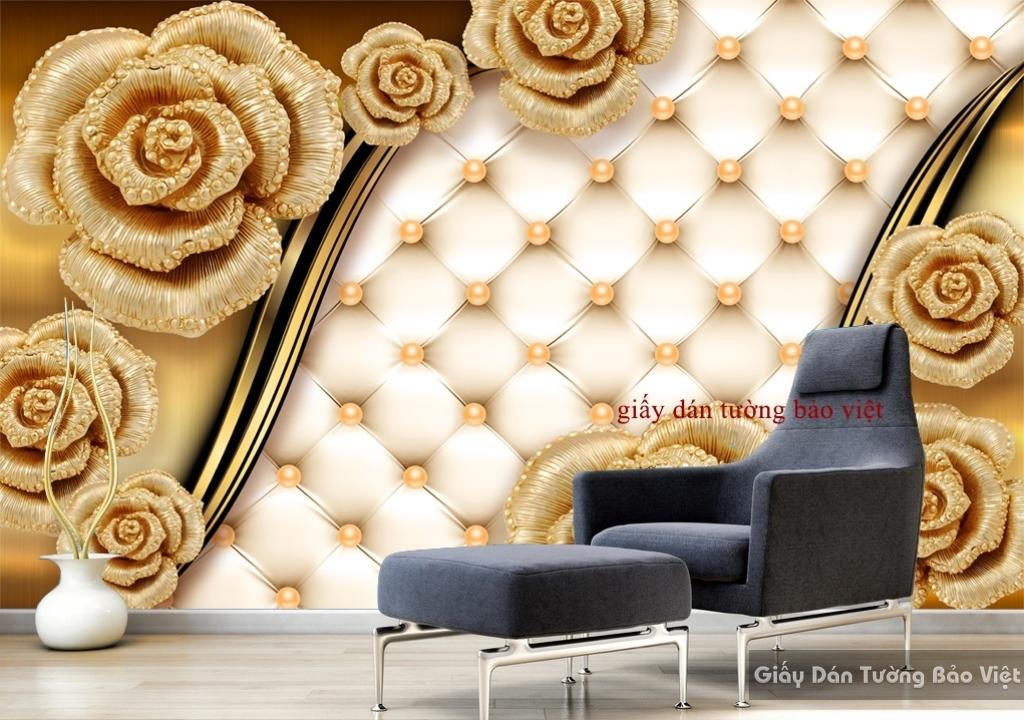 Tranh dán tường 3D Giả Ngọc FL065