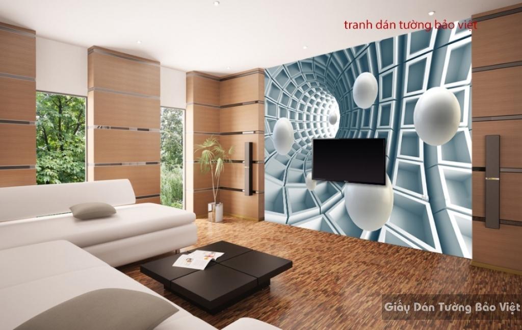 Tranh dán tường 3D cho phòng khách 3D-010