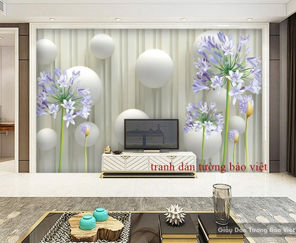 Tranh dán tường 3D đẹp 3D-013