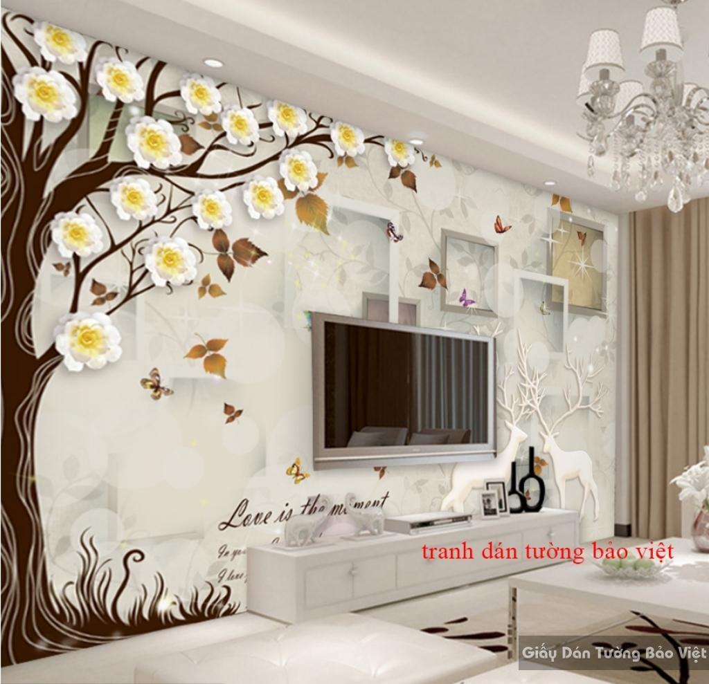 Tranh dán tường 3D đẹp K16597228