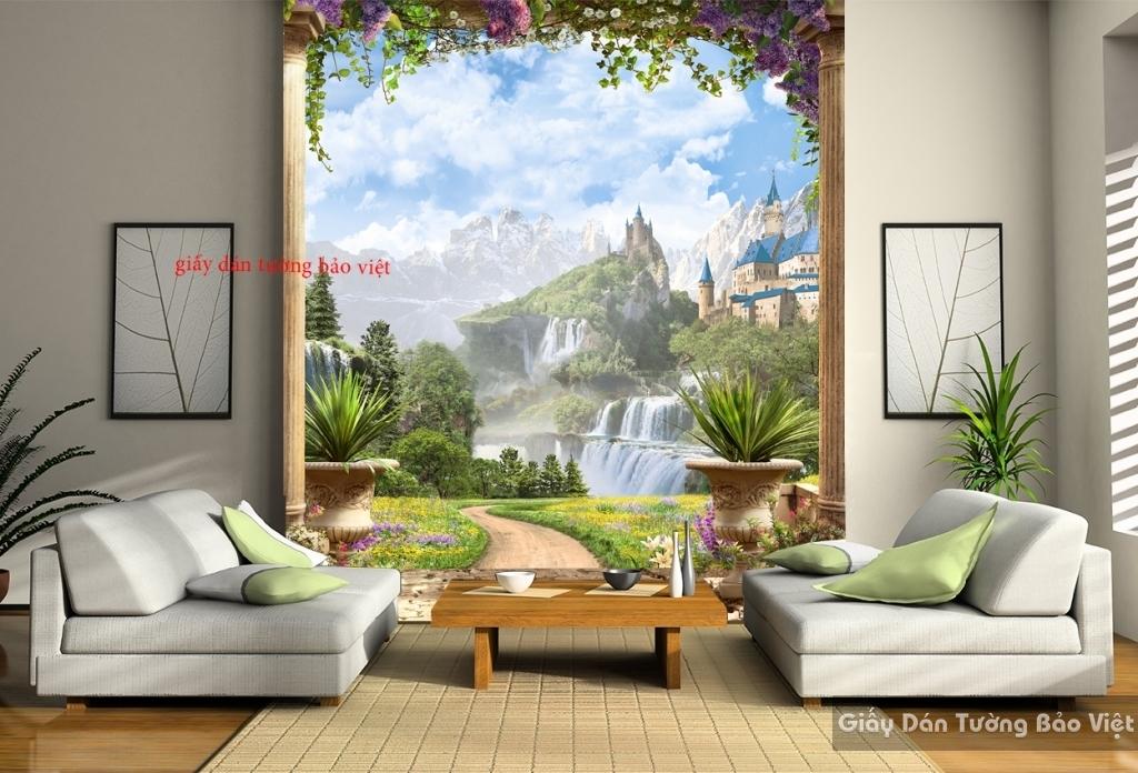 Tranh dán tường 3D phong cảnh W049