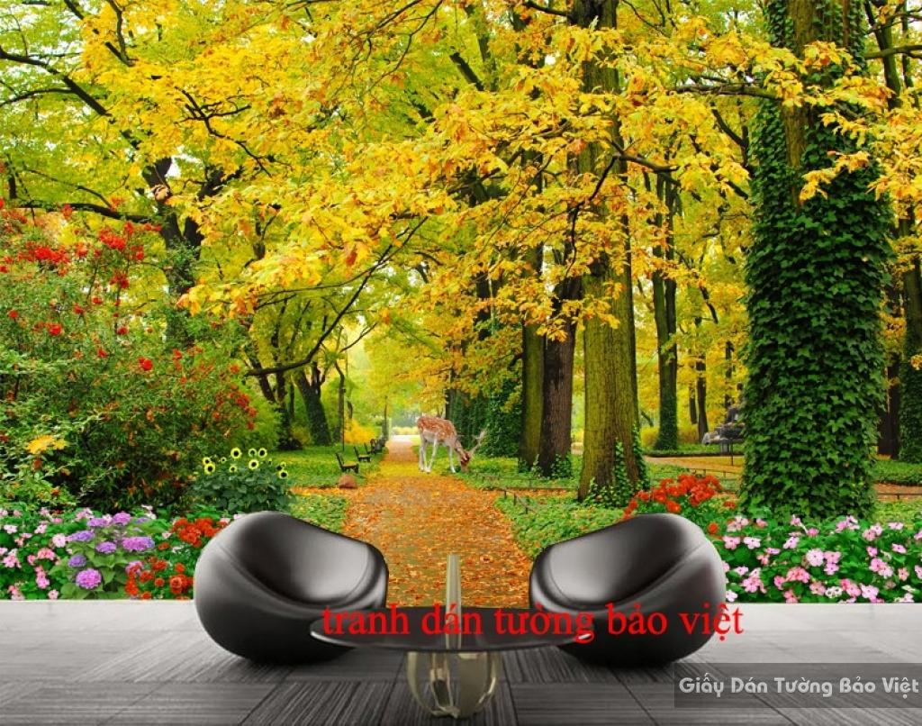 Tranh dán tường 3D phong cảnh đẹp Tr126