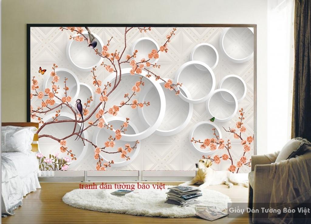 Tranh dán tường cho phòng ngủ 3D-033