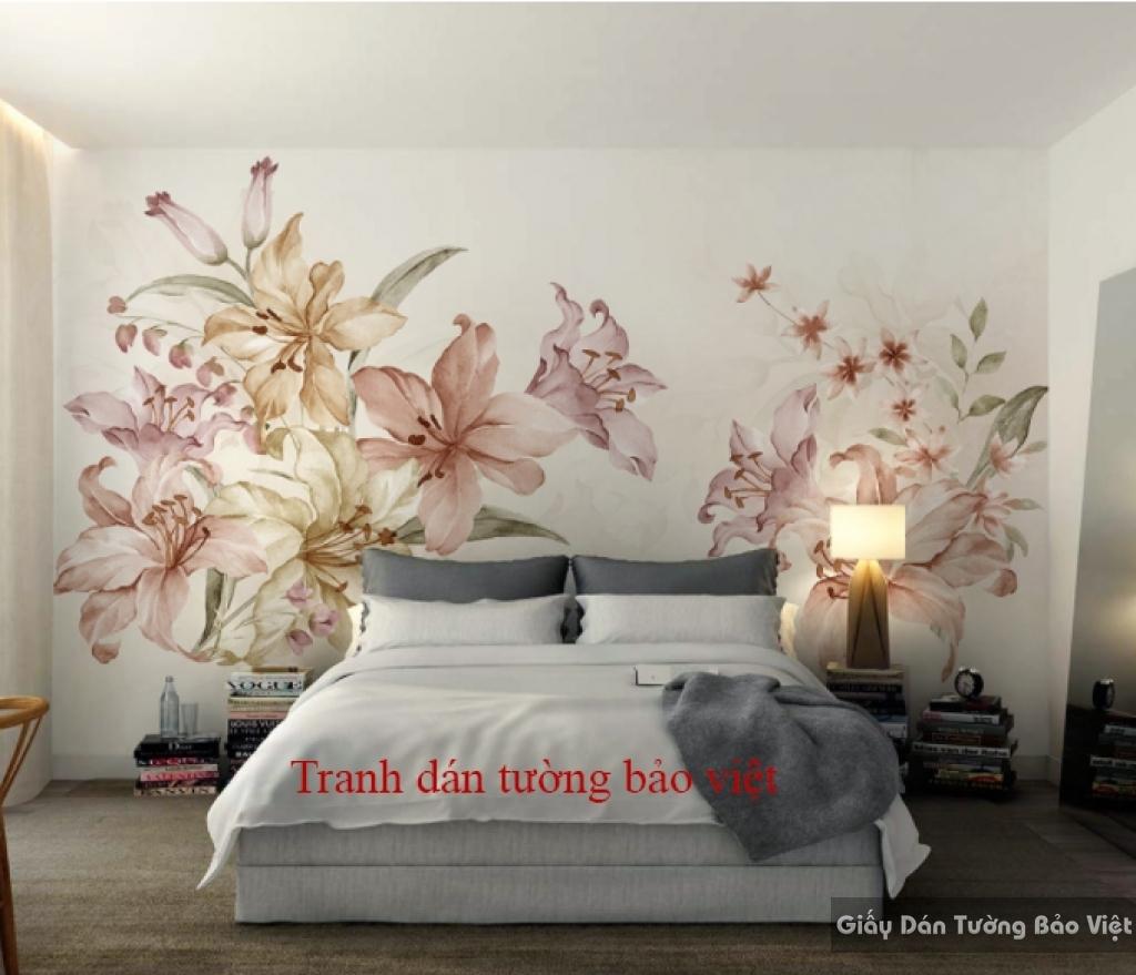 Tranh dán tường cho phòng ngủ H103