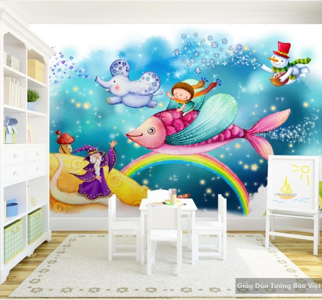 Tranh dán tường cho phòng trẻ em kid043