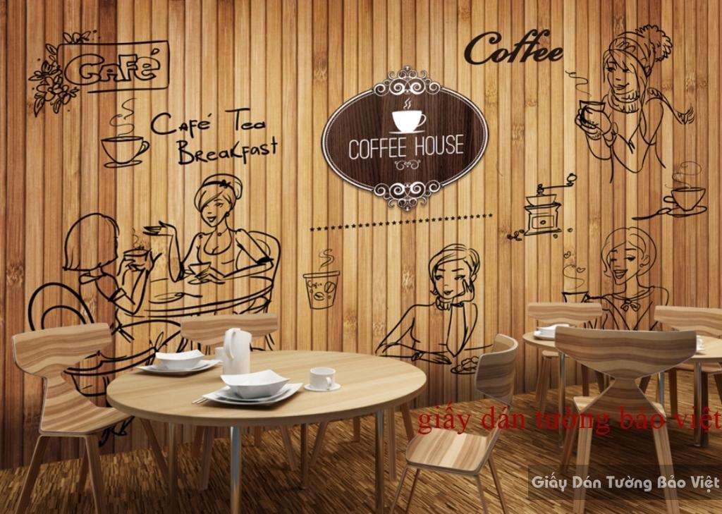 Tranh dán tường cho quán cafe K15518919