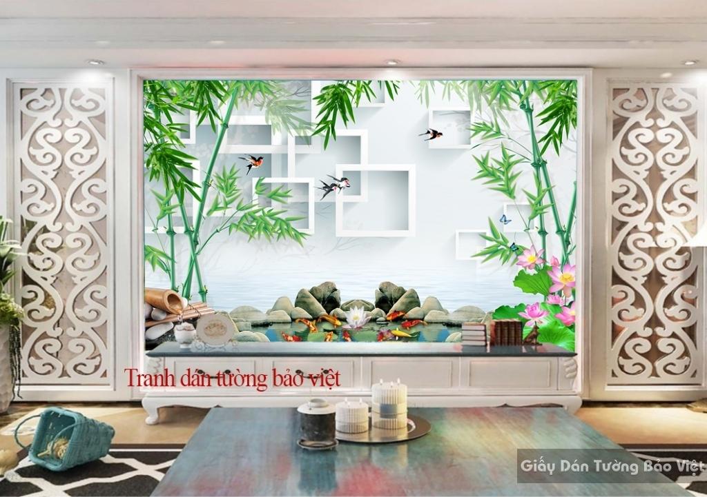 Tranh dán tường đẹp 3D-043