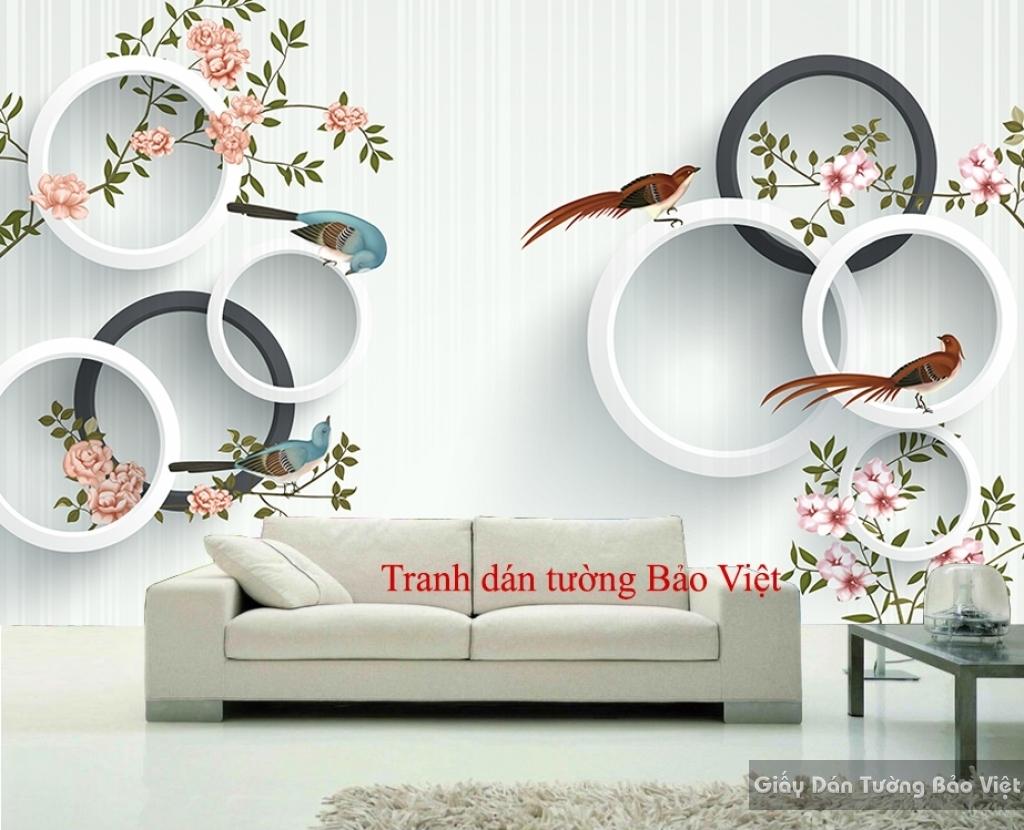 Tranh dán tường đẹp 3D-052
