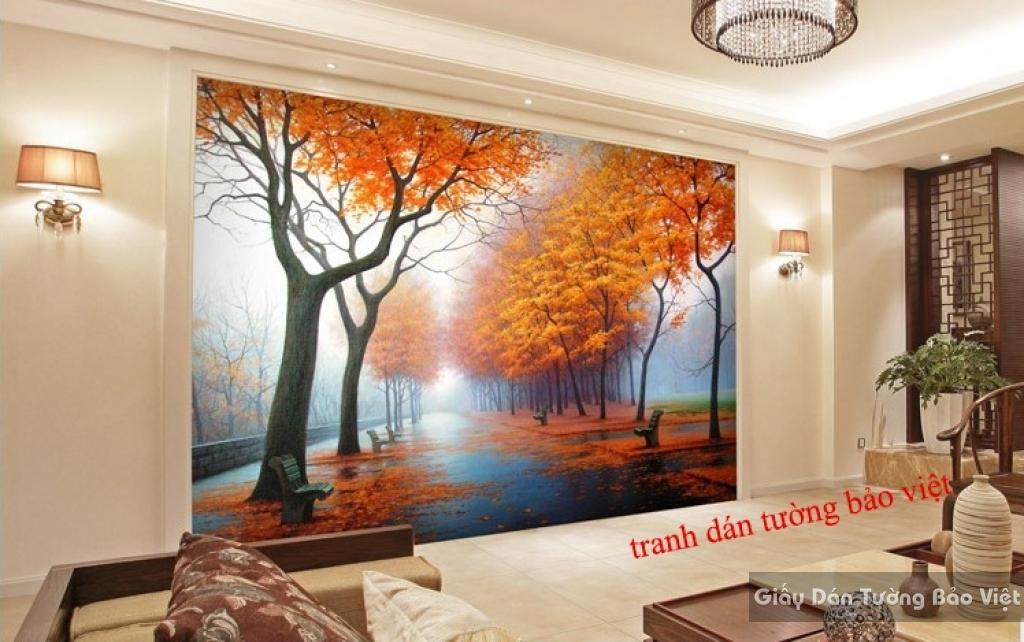 Tranh dán tường mùa thu Tr132