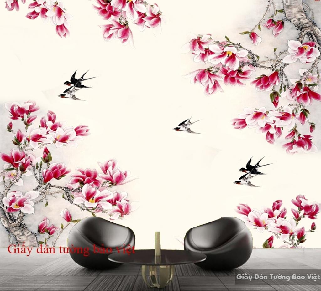 Tranh dán tường mùa xuân H104