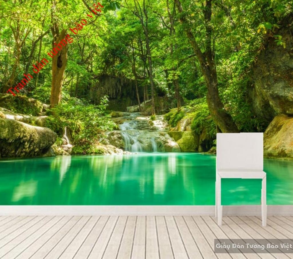 Tranh dán tường phong cảnh thác nước W050