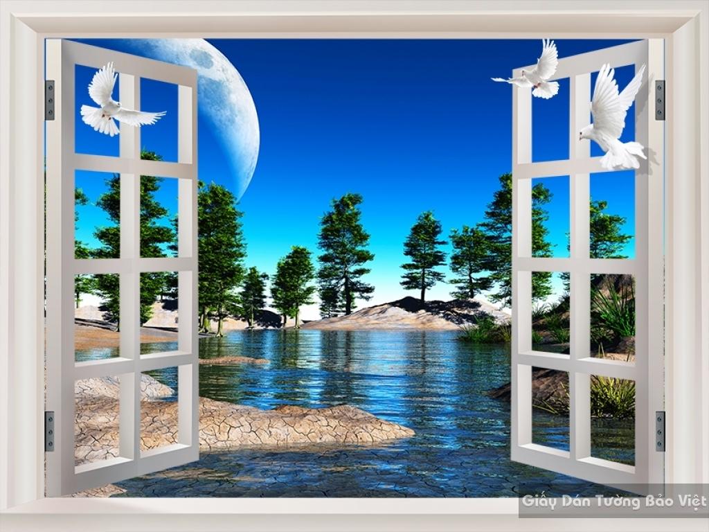 Tranh dán tường phong cảnh thiên nhiên Fi022