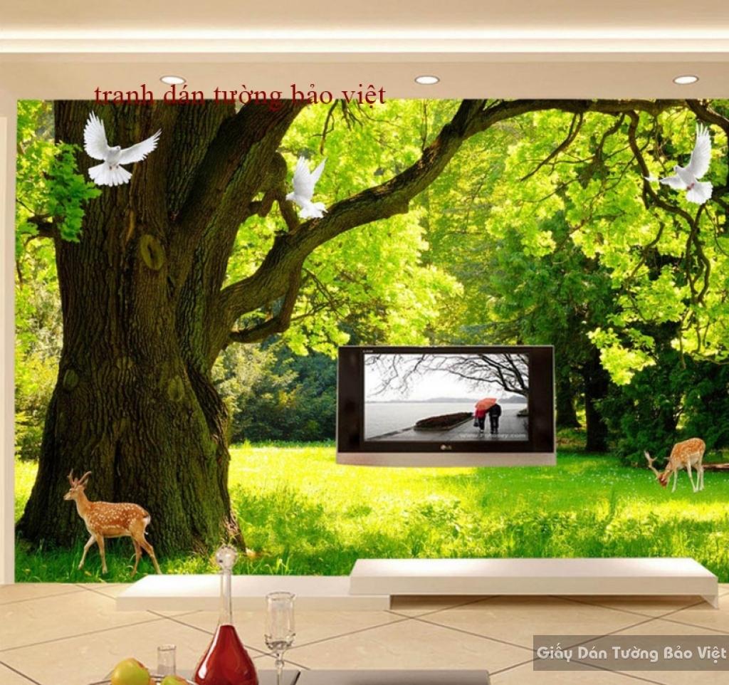 Tranh dán tường phong cảnh thiên nhiên K14239157